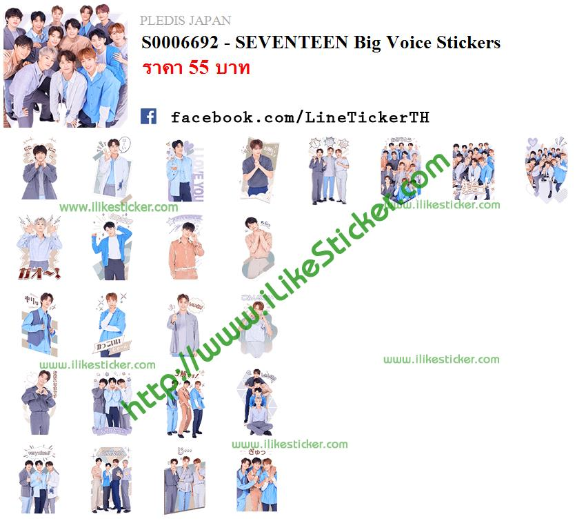 SEVENTEEN Big Voice Stickers