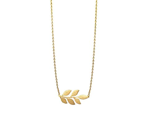 Gold olive necklace