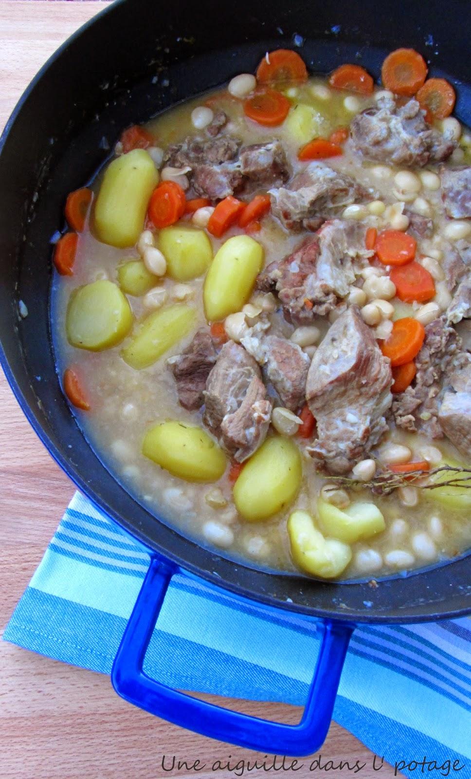 Ragoût de veau aux cocos de Paimpol recette bretonne