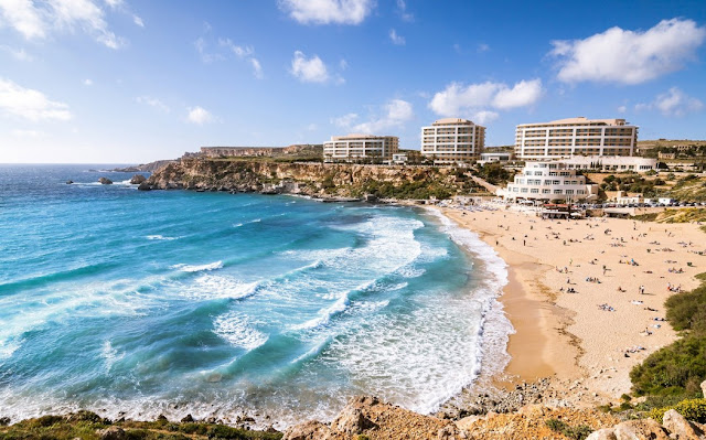 Golden Bay, playas de Malta