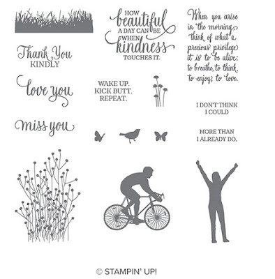 This picture shows the images that make up the Enjoy Life stamp by Stampin' Up!