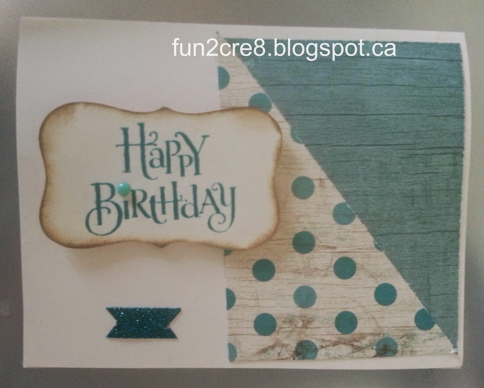 Cape Cod Birthday Card with CTMH Seaside paper