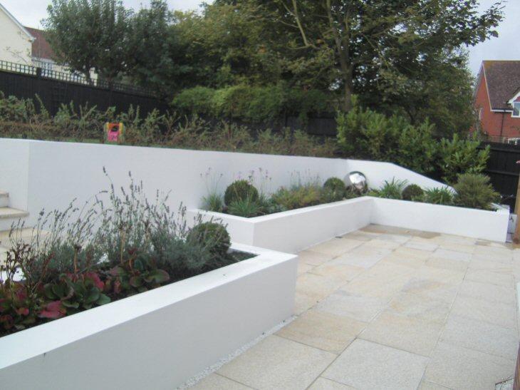 A life designing how to design a sloping garden for Modern garden wall ideas