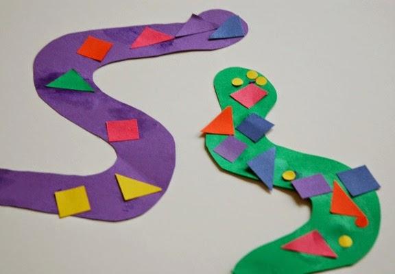 pattern snakes for jungle theme preschool