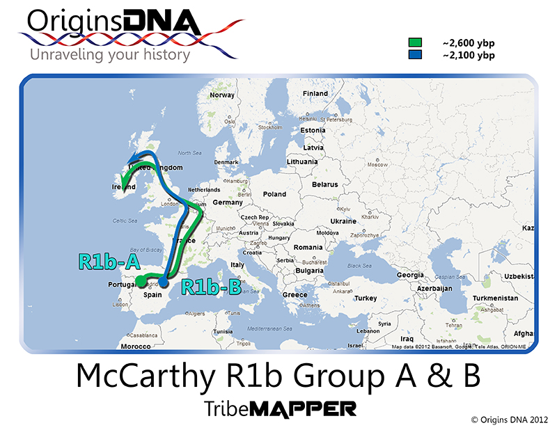 OriginsDNA - Genetic Genealogy: Genealogy Gold: McCarthy DNA