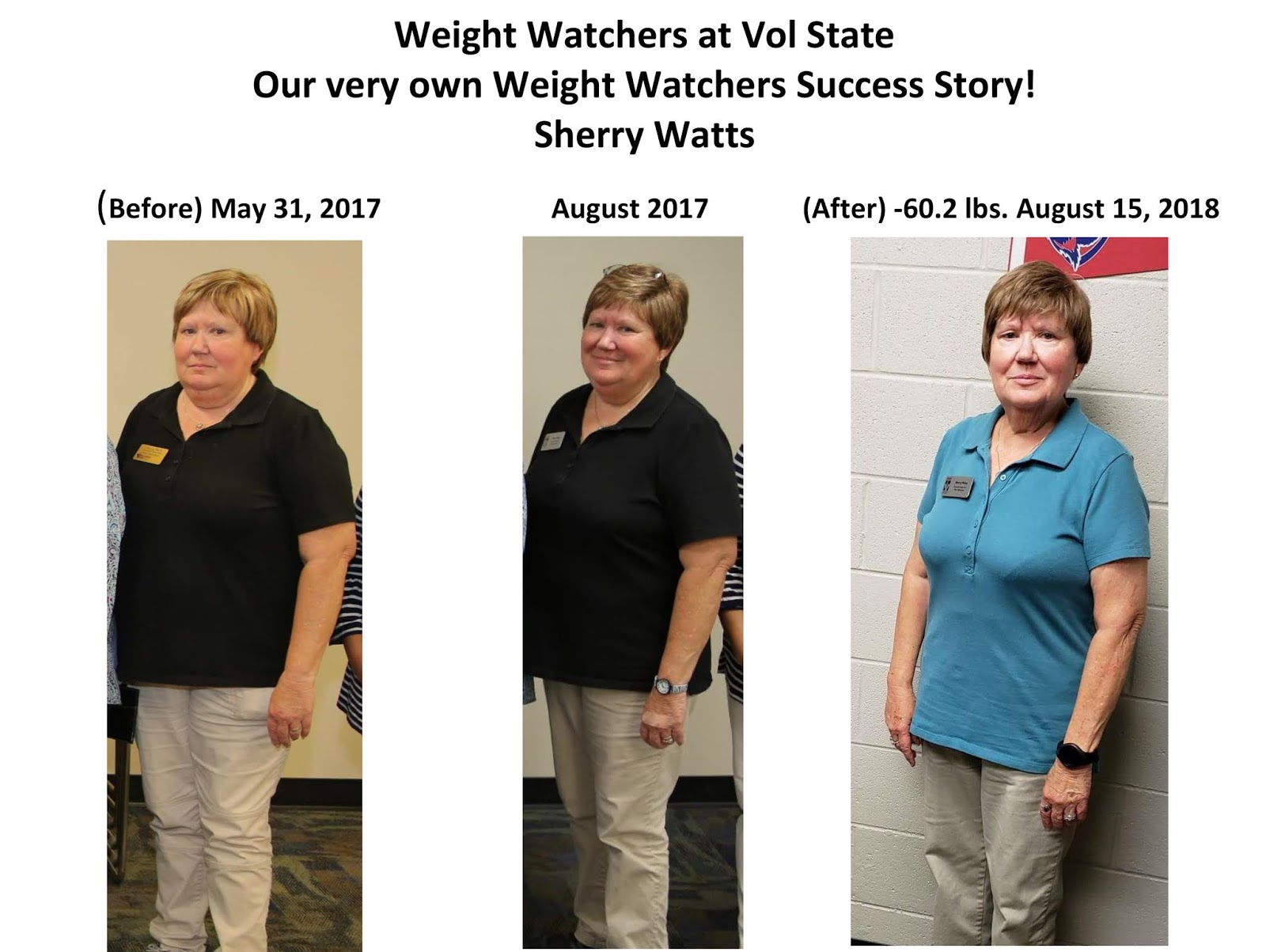 The Vol State Insider: Weight Watchers Success Story
