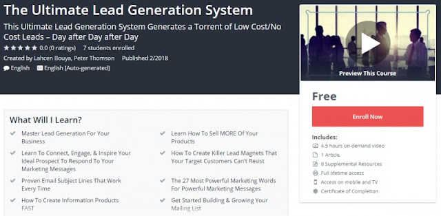 [100% Free] The Ultimate Lead Generation System