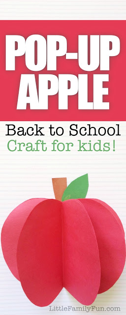 Little Family Fun: Pop Up Apple - Back to School craft for kids