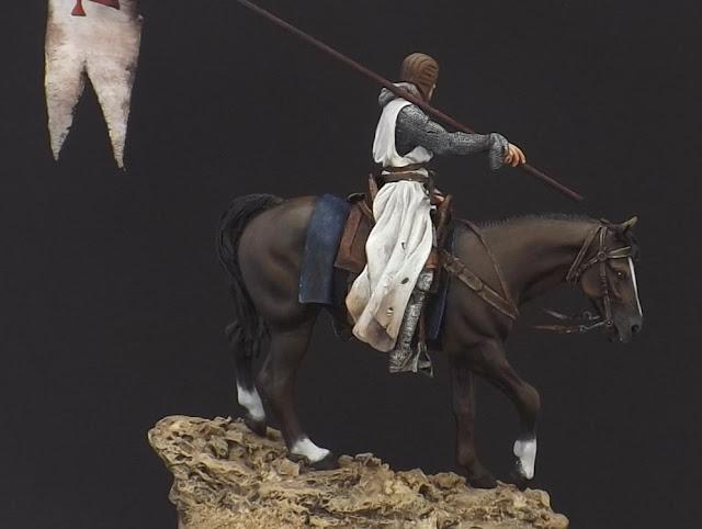 Templar Knight on Horseback c.XI - Andrea Miniatures 90mm Templar%2B5