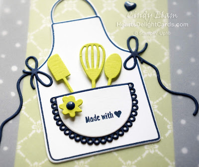 Heart's Delight Cards, Apron of Love, Thank You, Made With Love, Stampin' Up!