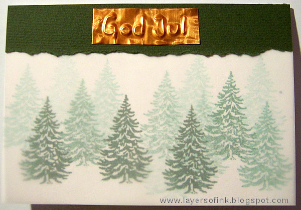 Layers of ink - World Cardmaking Day Tutorial by Anna-Karin
