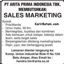 Lowongan Kerja PT. Arita Prima Indonesia