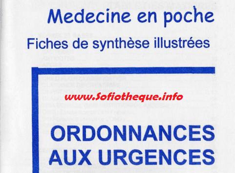 Médecine en poche pdf Ordonnances des Urgences livre PDF