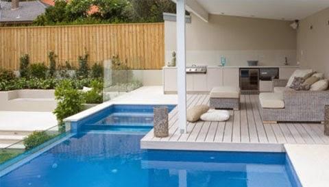 gambar desain kolam renang minimalis modern