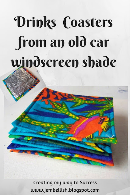 Drinks Coasters from Car Windscreen Shades