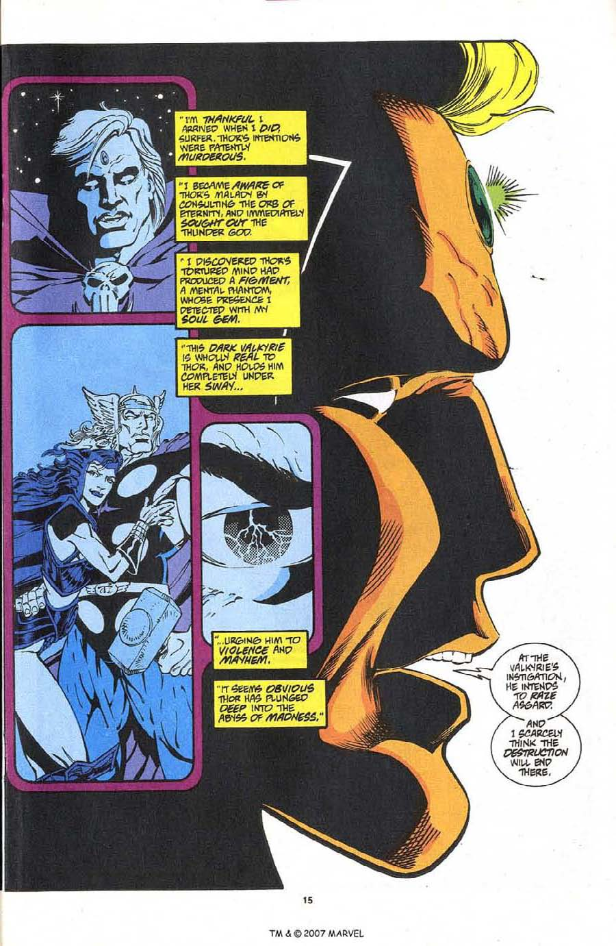 Read online Silver Surfer (1987) comic -  Issue #87 - 17
