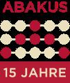 ABAKUS 15 Jahre Logo