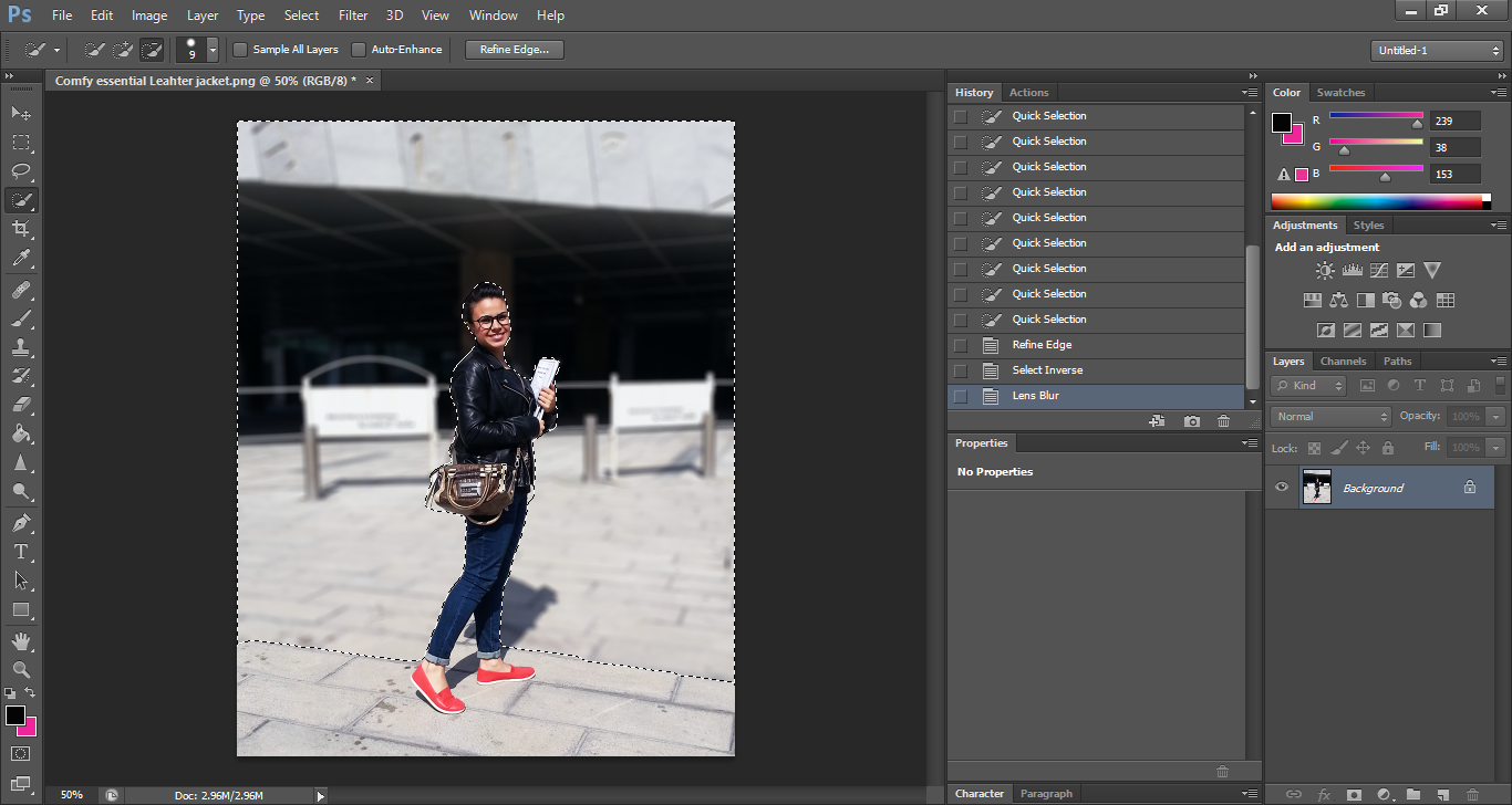 Get a cool lens blur without using a DSLR camera