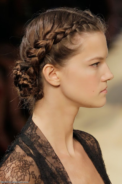 cute and easy updos long