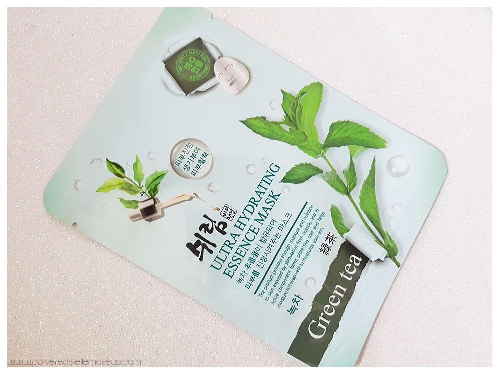 SHELIM Ultra Hydrating Essence Mask Green Tea