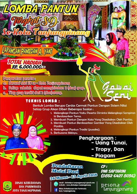 Gawai Seni 2018 Tanjung Pinang (25-28 April 2018) - Lomba Pantun