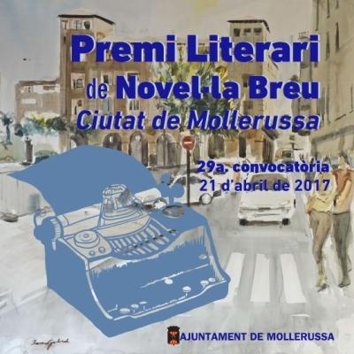 29è Premi de Novel·la Breu Ciutat de Mollerussa