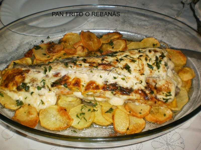 Pan frito o reban s merluza rellena al horno for Merluza rellena al horno