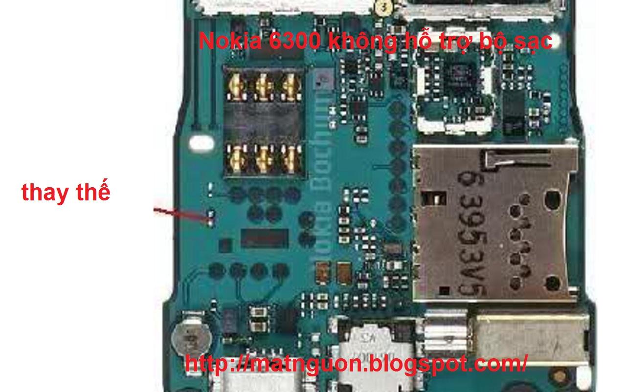Nokia 6300 không hỗ trợ bộ sạc