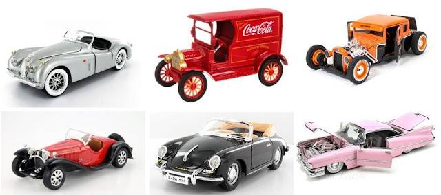 mainan miniatur mobil klasik kuno chevrolet holden cadillac diecast pajangan
