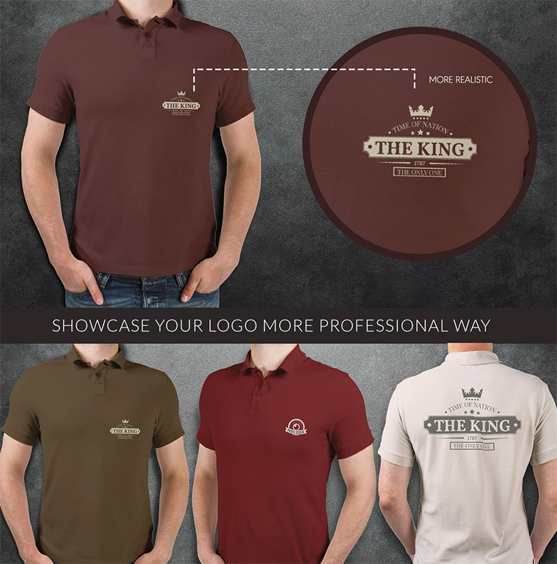 Polo T-shirt Mock-up PSD