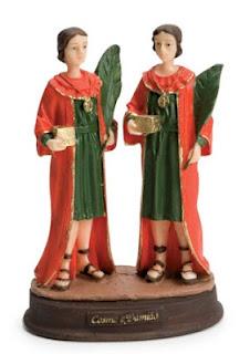 Imagem  São Cosme e Damião Resina | Oito Anjos Artigos Religiosos e Loja Esotérica