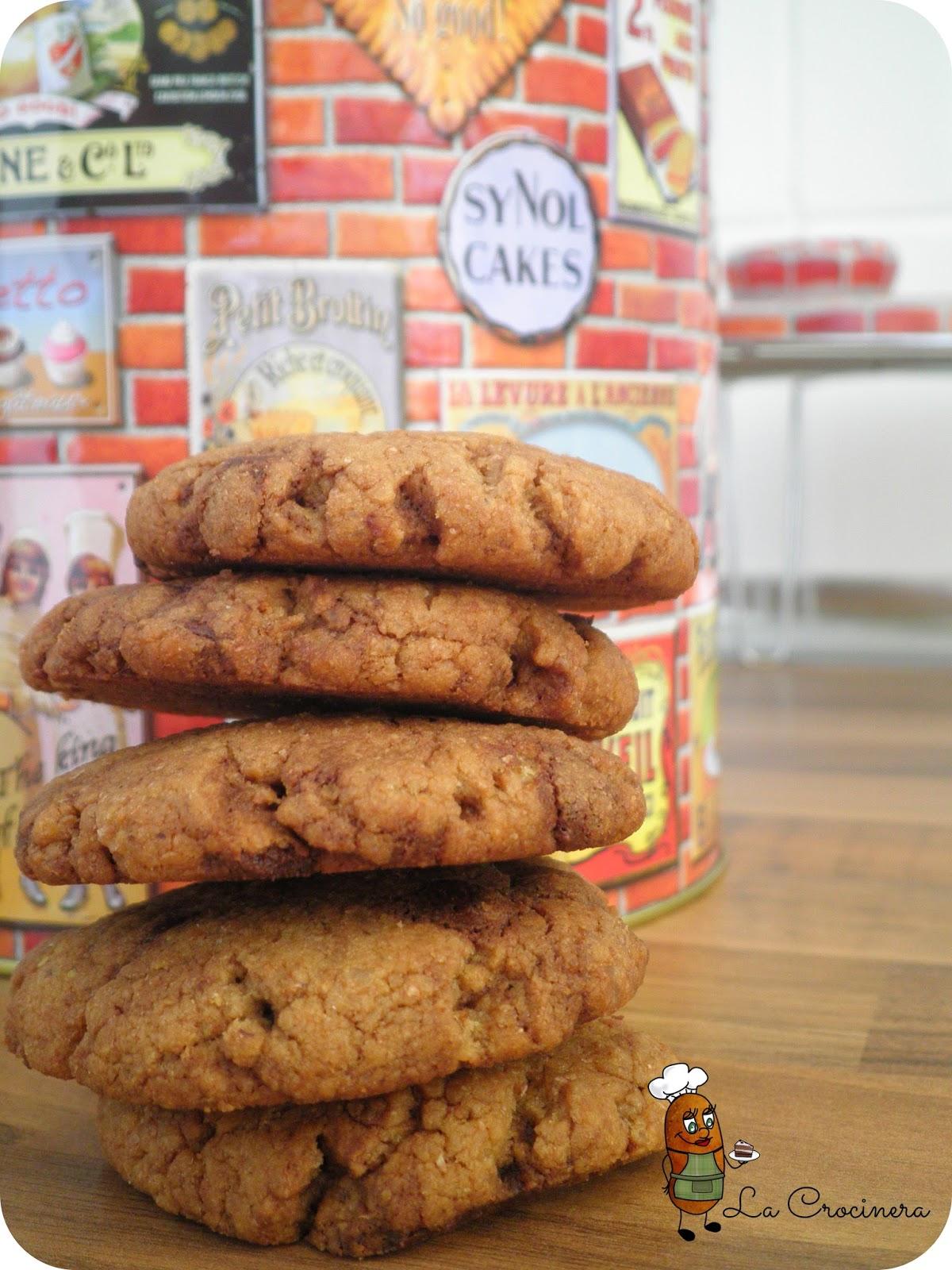 Galletas de chocolate sin mantequilla ni bicarbonato