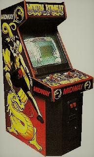 Mueble de la recreativa Mortal Kombat Midway, 1992