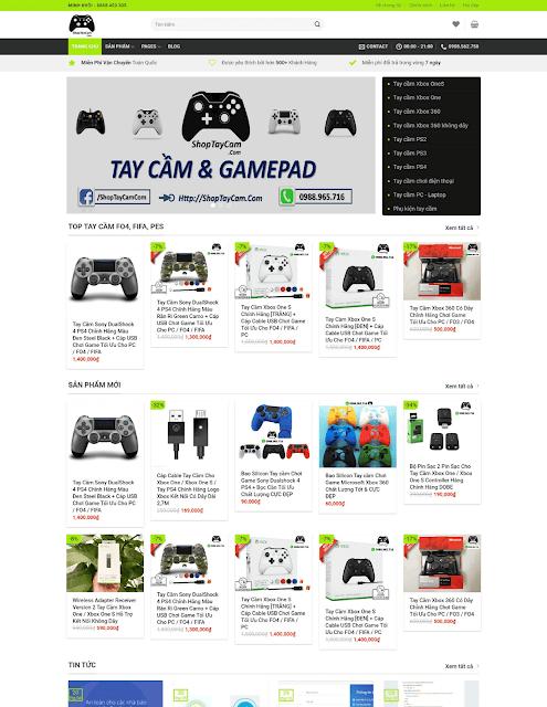 Template blogspot bán hàng cao cấp ShopTayCam