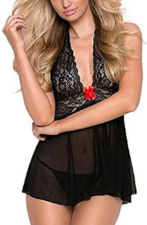 See-through Halter Lingerie, Ella Lust