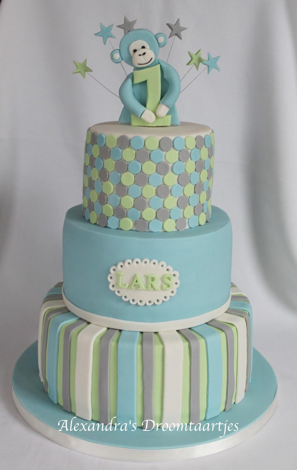 Genoeg Verjaardagstaart jongetje 1 jaar | Alexandra's droomtaartjes @UA34
