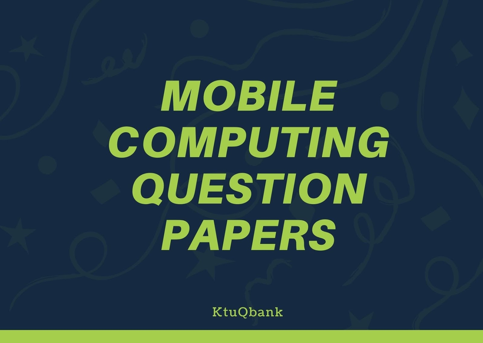 Mobile Computing   CS364   Question Papers (2015 batch)