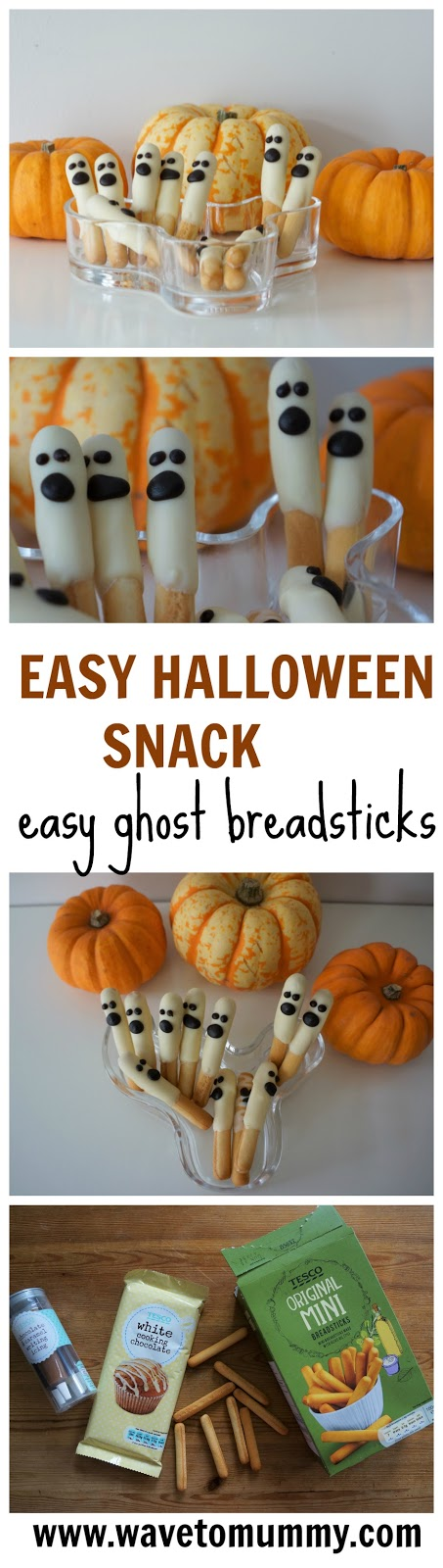 easy halloween ghost breadsticks