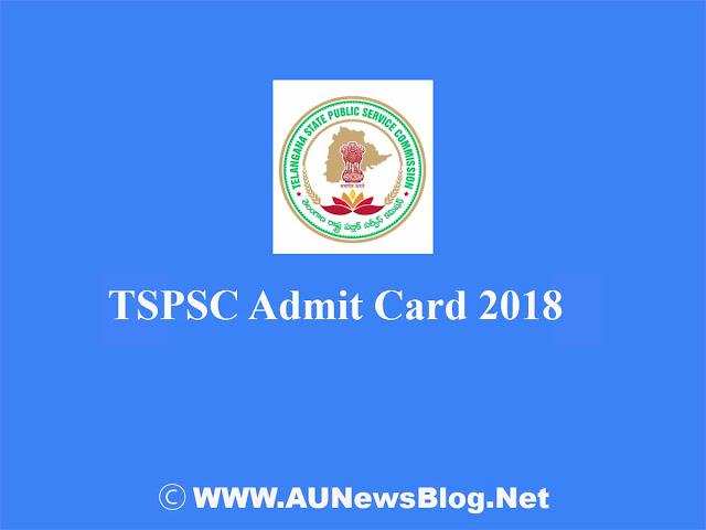 TSPSC Admit Card for Child Development Officer 2018