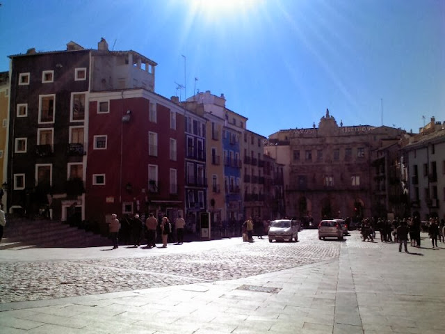 La plaza mayor de Cuenca