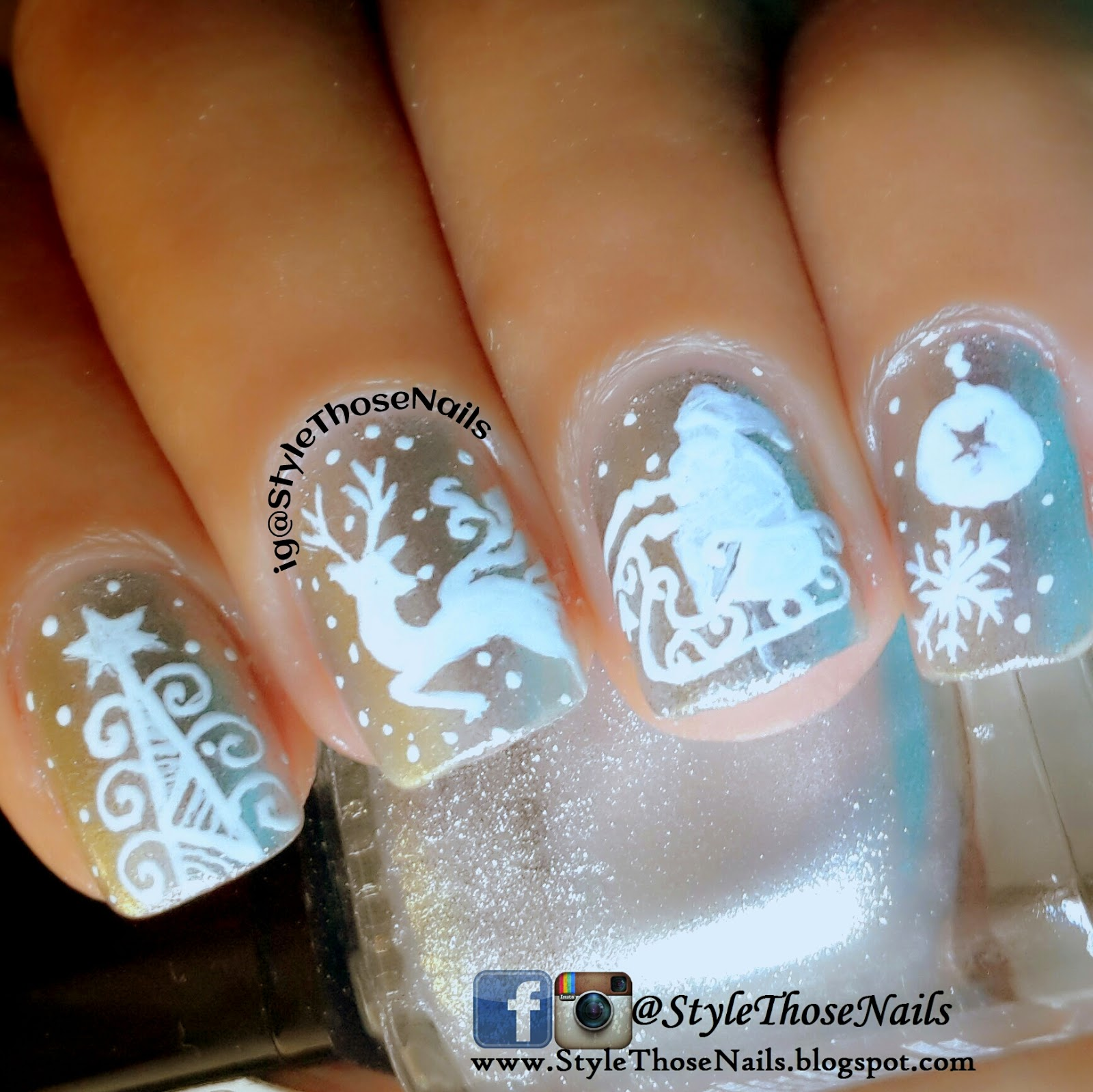 Style Those Nails White Christmas Nail Art