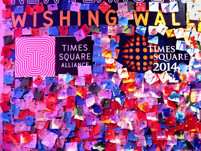 Wishing Wall New Year Times Square Confetti 2014