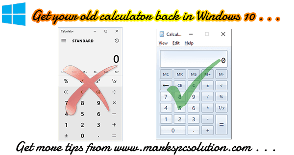 Get back to the classic version of Windows Calculator