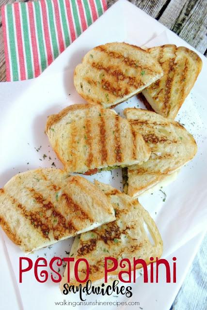 Pesto Panini Sandwiches