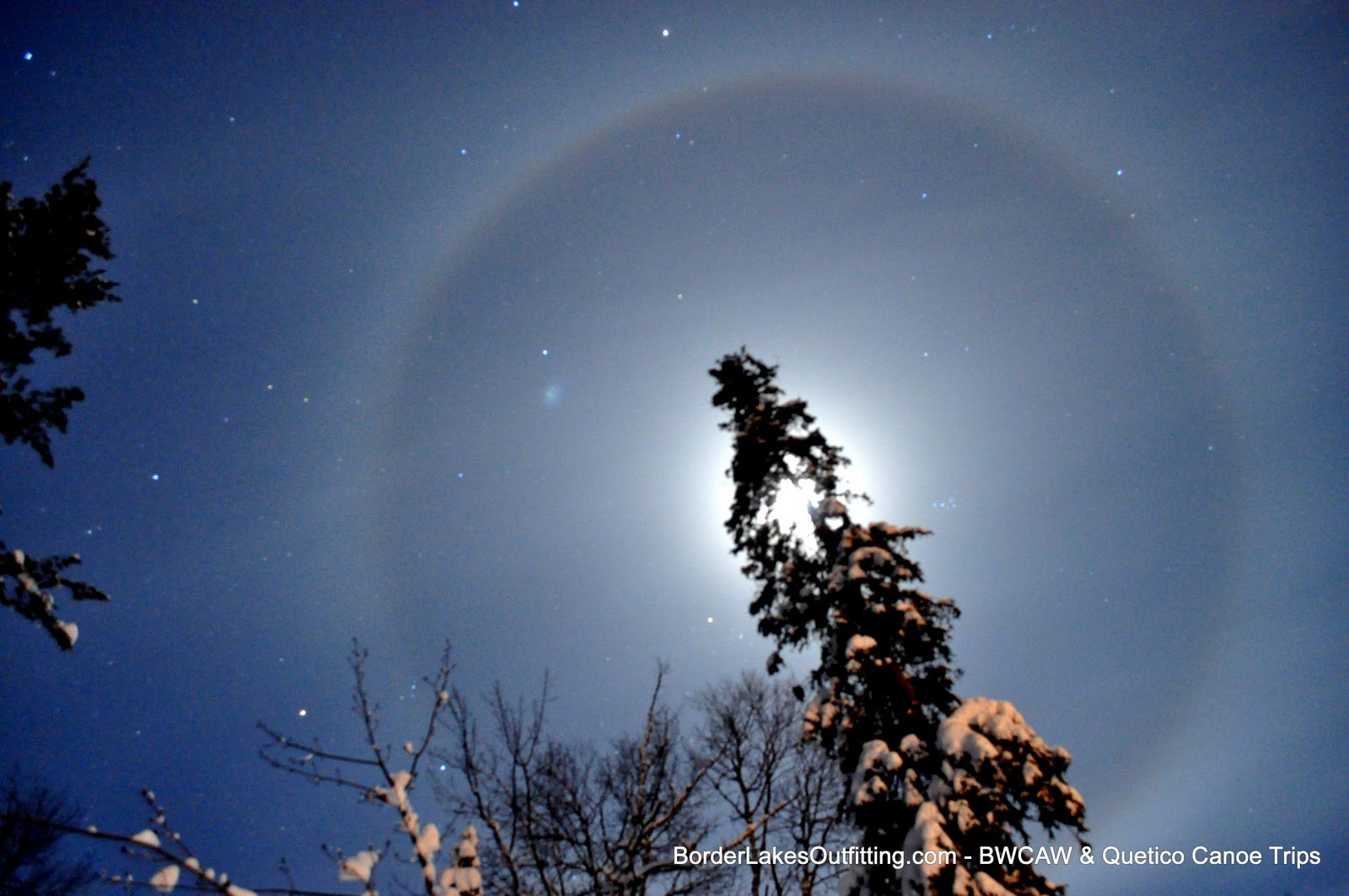 Moon Halo over Ely, MN