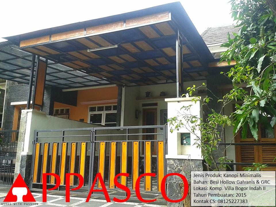 Kanopi dan Pagar Minimalis GRC di Villa Bogor Indah