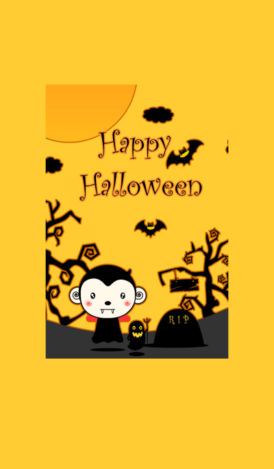Monkey In Halloween Day