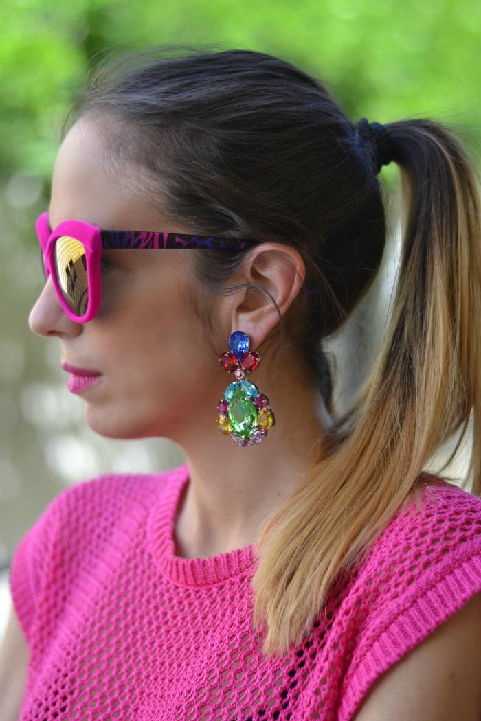 maxi orecchini pietre colorate