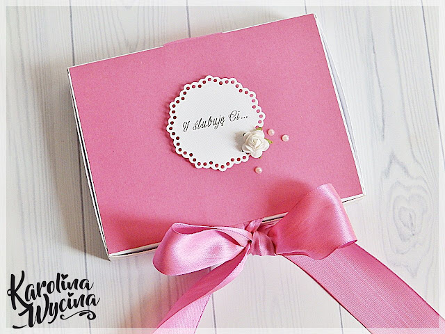 Ślubna kartka w pudełku na dziś!