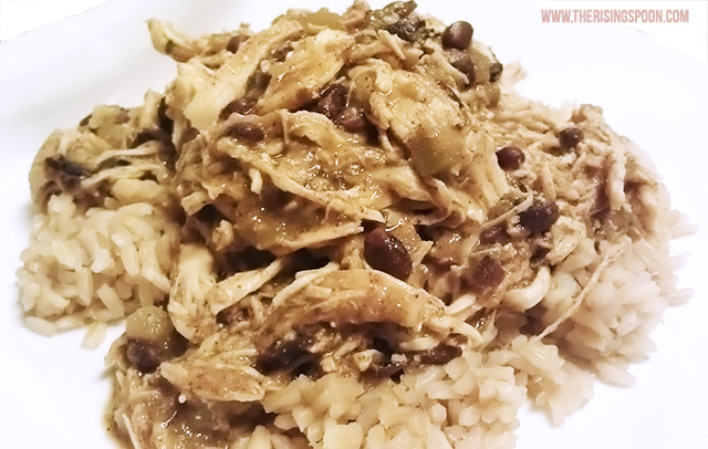 Crock-Pot Chicken with Salsa, Black Beans & Green Chiles